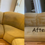 Couch Cleaning Before and After Images